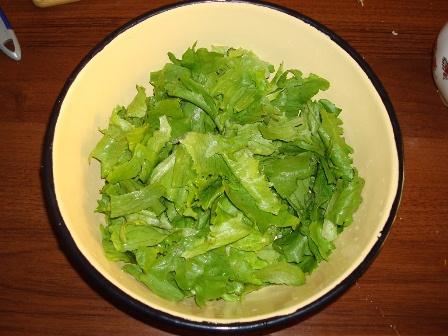 Греческий салат с листьями салата рецепт с