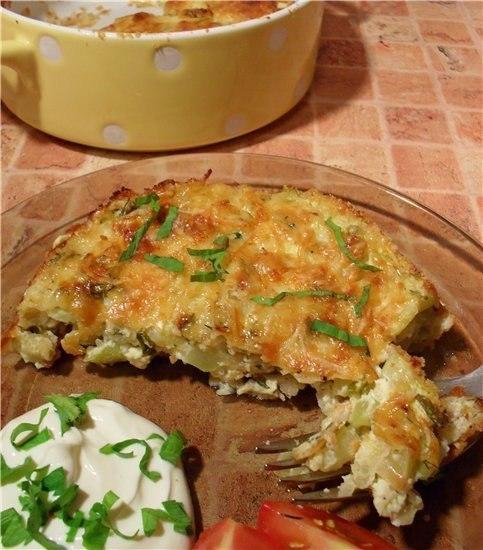 Запеканка из кабачков с фетой в духовке рецепты